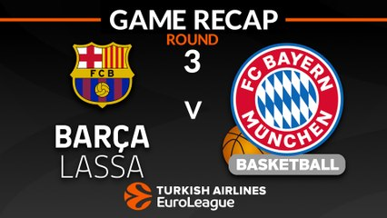 EuroLeague 2018-19 Highlights Regular Season Round 3 video: Barcelona 83-73 Bayern