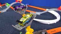 Hot Wheels Trick Tracks Android Attack Hot Wheels Track Set Just Like Domino Chain Reaction - RaceGrooves review