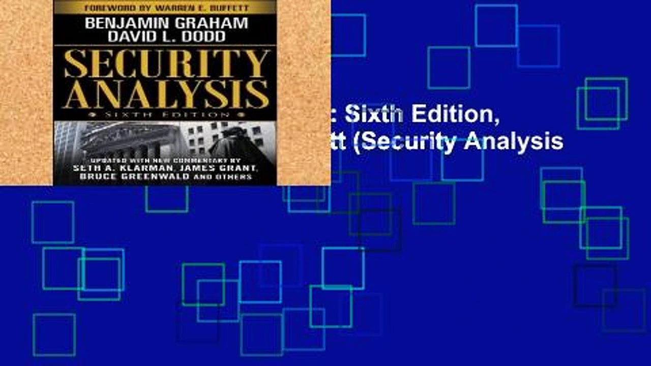 Library  Security Analysis: Sixth Edition, Foreword by Warren Buffett (Security Analysis Prior