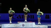 2018 Worlds Ladies Medal Ceremony (No Commentary) - Kaetlyn Osmond, Wakaba Higuchi, Satoko Miyahara