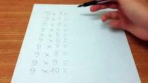 Apprendre facilement table 9