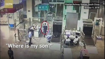 Un papa perd son fils à l'aéroport