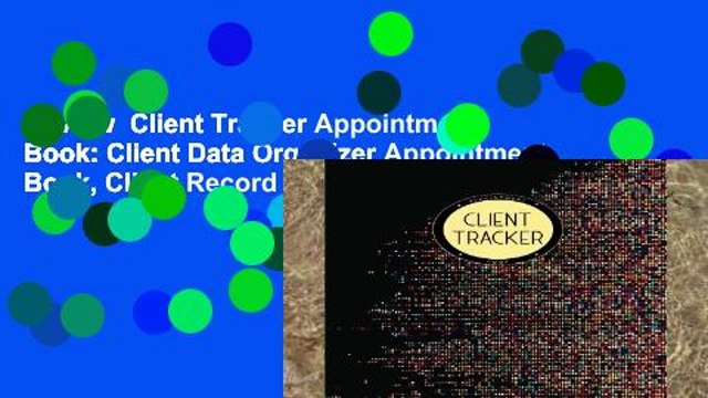 Review  Client Tracker Appointment Book: Client Data Organizer Appointment Book, Client Record