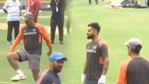 India VS West Indies 1st ODI: Team India sweat it out ahead of 1st ODI | वनइंडिया हिंदी