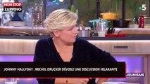 Johnny Hallyday : Michel Drucker révèle une discussion hilarante avec le chanteur dans C à Vous (Vidéo)
