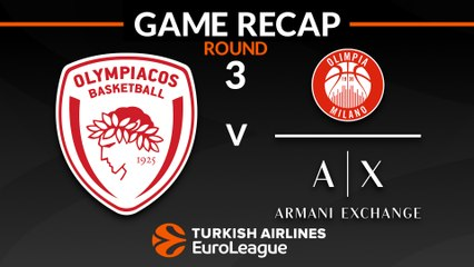 EuroLeague 2018-19 Highlights Regular Season Round 3 video: Olympiacos 75-99 AX Milan