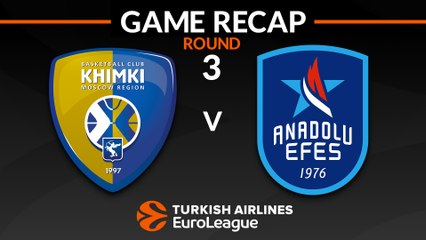 EuroLeague 2018-19 Highlights Regular Season Round 3 video: Khimki 84-85 Efes