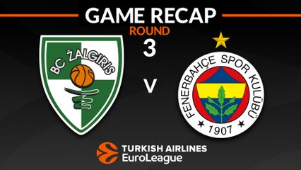 EuroLeague 2018-19 Highlights Regular Season Round 3 video: Zalgiris 75-82 Fenerbahce