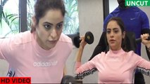 Aamna Sharif Gym Workout Session on her GYM with Bollywood Munch