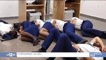Des employés de Ryanair mettent en scène leur mécontentement envers leur société - Regardez