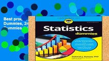 Best product  Statistics For Dummies, 2nd Edition (For Dummies (Lifestyle))