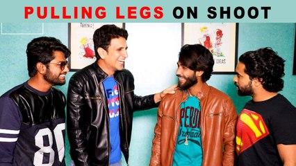 Pulling Legs on Shoot - Ultimate Fun    Kiraak Hyderabadiz