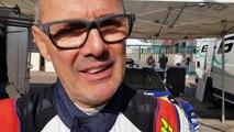 Finale Coupe de France des rallyes Chalon sur Saône Eric Mauffrey qui était leader fait une sortie de route et abandonne