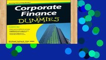 Best product  Corporate Finance For Dummies