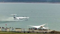 LIVE: China's first large amphibious aircraft AG600 makes its maiden flight from water.
