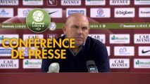 Conférence de presse FC Metz - Chamois Niortais (3-0) : Frédéric  ANTONETTI (FCM) - Patrice LAIR (CNFC) - 2018/2019