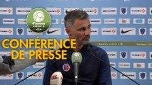 Conférence de presse Paris FC - Châteauroux (0-0) : Mecha BAZDAREVIC (PFC) - Jean-Luc VASSEUR (LBC) - 2018/2019