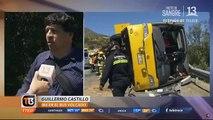 Bus accidentado en Cuesta La Dormida no tenía revisión técnica al díaAmpliamos la información en #T13Tarde Mira el noticiario completo en EN VIVO por #T1