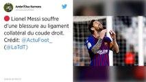FC Barcelone : Lionel Messi sort blessé au coude droit