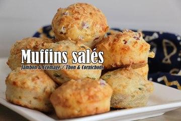 #LGDK : Muffins salés (Jambon & Fromage / Thon & Cornichons)