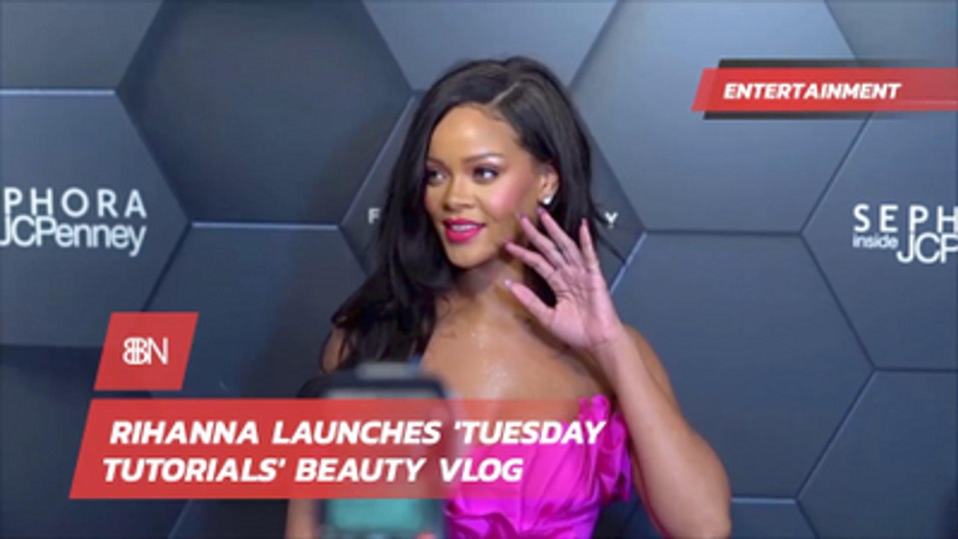 Rihanna Takes Over New Fashion And Beauty Vlog