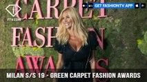 Milan Fashion Week Spring/Summer 2019 - Green Carpet Fashion Awards | FashionTV | FTV