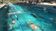 Le Creusot : le champion olympique Alain Bernard anime un entraînement au centre nautique