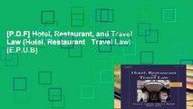 [P.D.F] Hotel, Restaurant, and Travel Law (Hotel, Restaurant   Travel Law) [E.P.U.B]