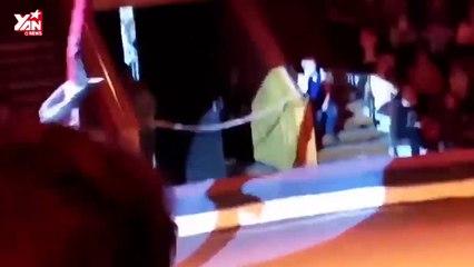 Kinh hoàng nữ diễn viên xiếc ngã từ độ cao 6 mét xuống mặt đất (re-up)