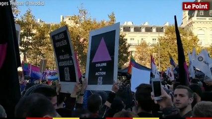 Les images de la manifestation contre l'homophobie à Paris