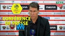 Conférence de presse OGC Nice - Olympique de Marseille (0-1) : Patrick VIEIRA (OGCN) - Rudi GARCIA (OM) / 2018-19