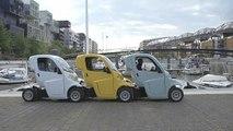 Des véhicules électriques emboîtables renouvellent l'autopartage