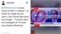 Enquêtes à la France Insoumise: Jean-Luc Mélenchon en recul dans les sondages.