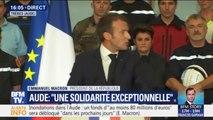 """Macron dans l'Aude: """"La République, c'est cette vague plus forte que toutes les vagues qui ont frappé vos communes"""""""