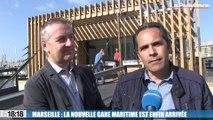 Le 18:18 : la nouvelle gare maritime est enfin arrivée dans le Vieux-Port de Marseille