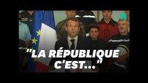 Emmanuel Macron a-t-il fait référence à Jean-Luc Mélenchon dans son discours à Trèbes?
