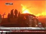 Se registra incendio en una bodega de cartón en Ecatepec