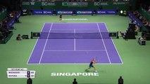 Caroline Wozniacki beats Petra Kvitova in WTA Finals in Singapore