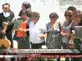 Último adiós a jóvenes ejecutados en Cuernavaca, Morelos