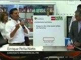 Promete Peña Nieto seguro de vida para jefas de familia