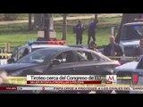 Mujer choca contra patrulla y desata balacera afuera de Capitolio en EU