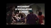 À Rome, un escalator s'écroule dans le métro avant le match AS Roma-CSKA Moscou