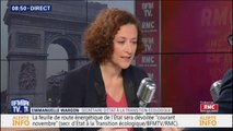 """Emmanuelle Wargon assume que """"la hausse des taxes sur les carburants est une stratégie globale de lutte contre le réchauffement climatique"""""""