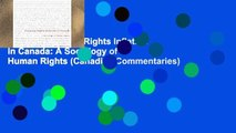 Popular Debating Rights Inflation in Canada: A Sociology of Human Rights (Canadian Commentaries)