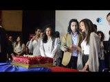 مؤتمر نيللى وشريهان | هشام بيقطع التورتة مع دنيا سمير غانم و إيمي سمير غانم