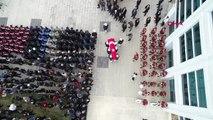 Bursa Kazada Şehit Olan Polis Memuru Hayrettin Yılmaz İçin Emniyette Tören Düzenlendi- Drone