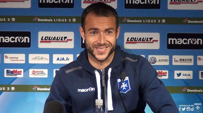 Conférence de presse de Romain Philippoteaux et Pablo Correa avant AJA-Paris FC