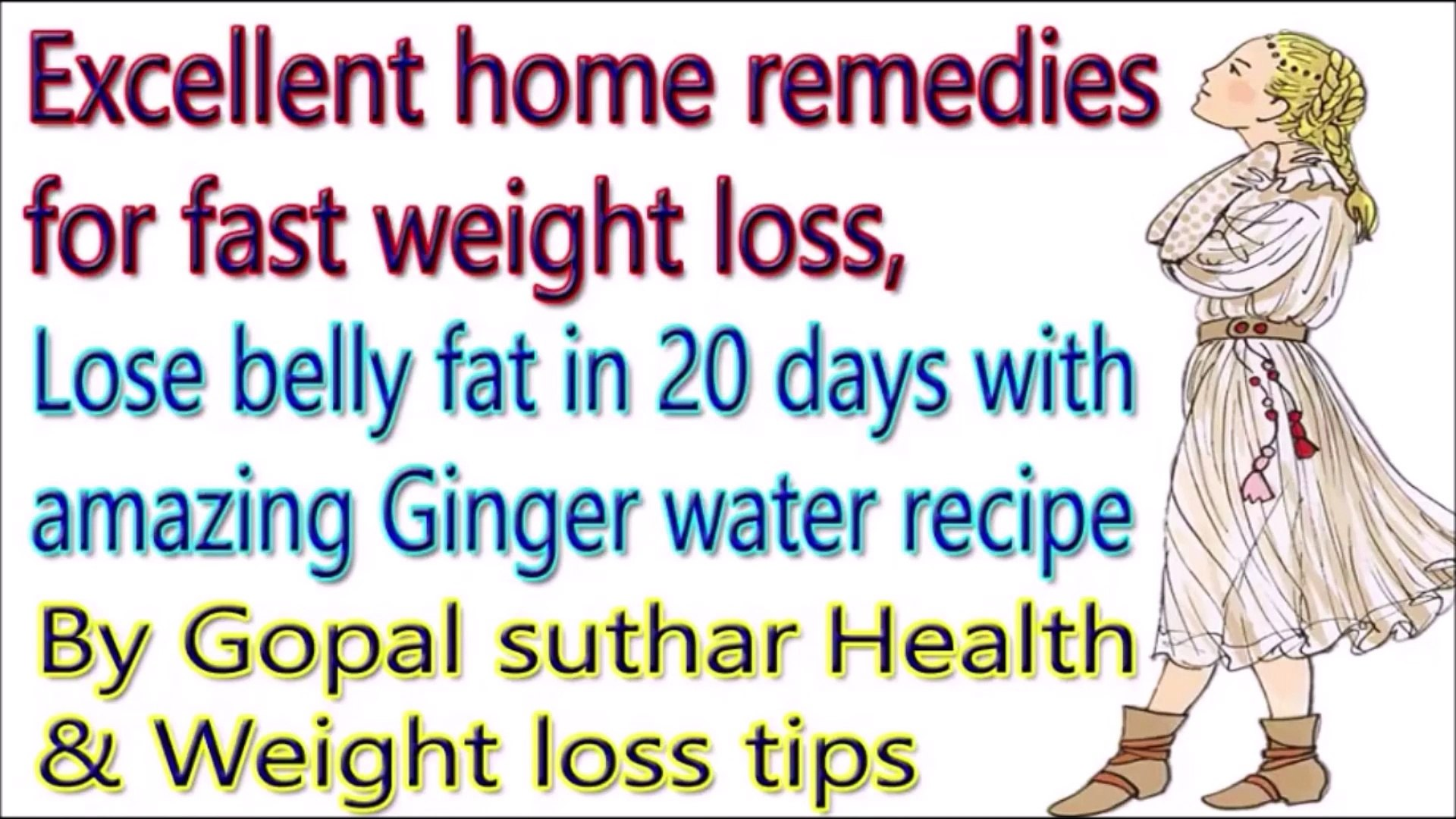 Ginger water is the best way to reduce stomach fat | Easy home remedies to lose weight in 3 weeks |