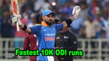 Kohli pips Tendulkar to become fastest to 10,000 ODI runs