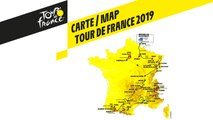 Carte / Map - Tour de France 2019